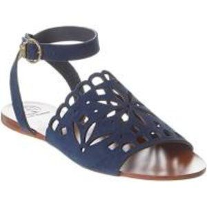 Auth TORY BURCH May Perforated Ankle Strap Sandal